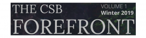 CSB Forefront Newsletter Vol 1